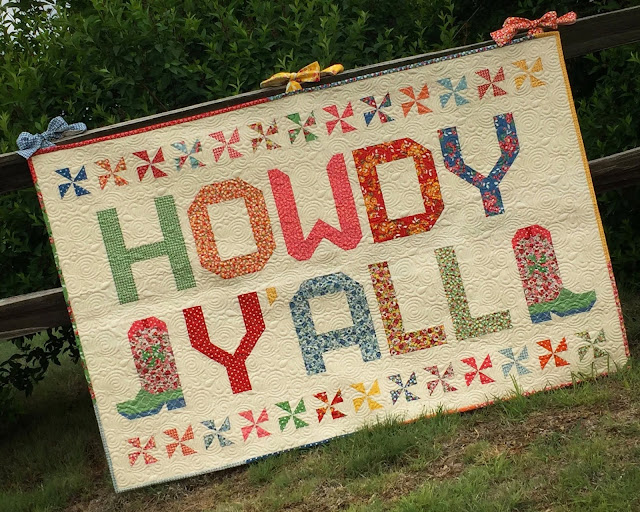 Howdy Y'all Quilt, Moda Bake Shop, Thistle Thicket Studio, Spell it With Moda