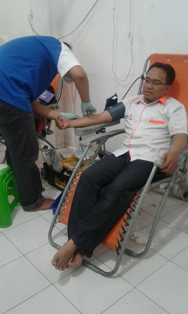 Lazismu Jember turut serta sebagai peserta donor darah