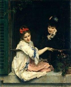 Подборка картин «Женщины (девушки) у окон в живописи»