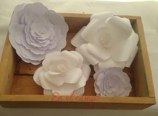 flores de papel paper flowers fleurs en papier DIY