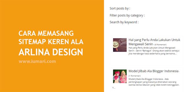 Cara Memasang Sitemap Keren Ala Arlina Design