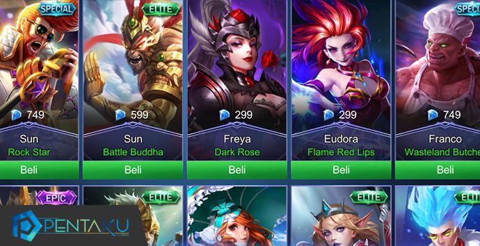Tips mendapatkan skin hero gratis di Mobile Legends