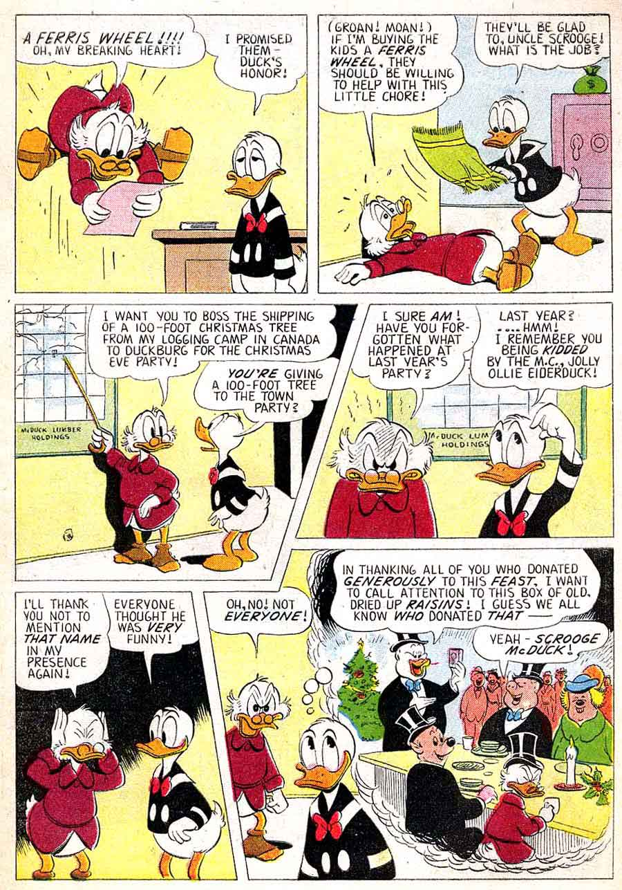 Christmas Parade v1 #9 dell donald duck comic book page art by Carl Barks