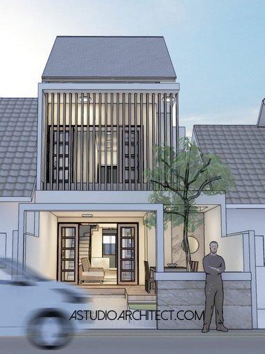 desain rumah lebar 5m