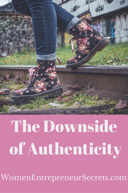 the downside of authenticity