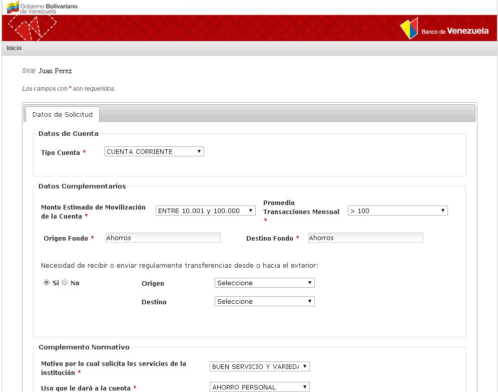 Requisitos para aperturar una cuenta de ahorro o corriente for Banco de venezuela solicitud de chequera