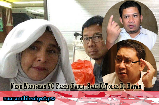 Neno Warisman VC Fahri-Fadli, Saat DiTolak Di Batam