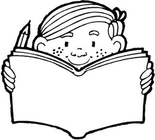 Portal Escuela Colorear A Niño Estudiando Su Cuaderno