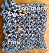 Paint highlights on your crocheted work