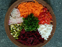 Beetroot, Carrot, Radish, Green gram sprouts, BSD