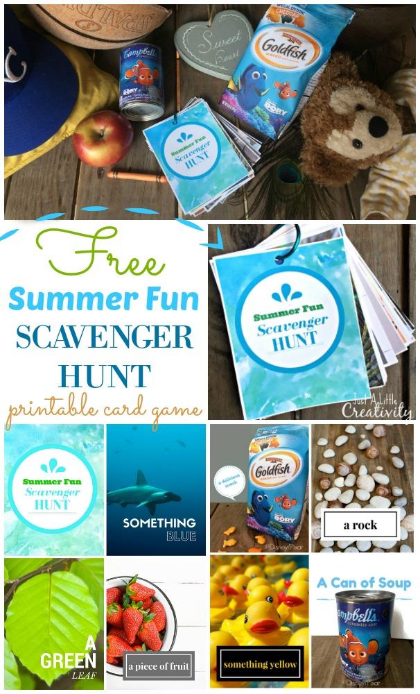 Free Summer Printable Scavenger Hunt