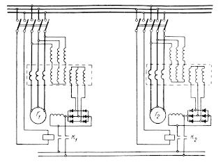 Уравнительное соединение между обмотками возбуждения генераторов