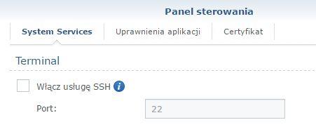Usługa SSH jest wyłączona