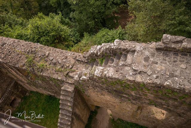 Château du Hagueneck (état juillet 2019). Accès au donjon.
