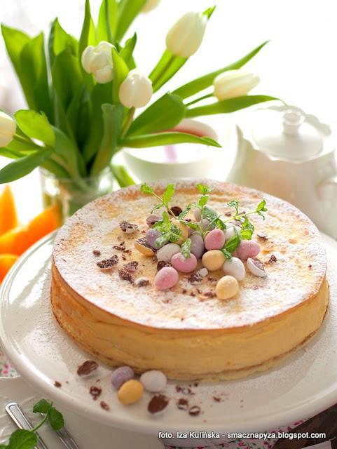 wspaniały sernik wiedeński bez spodu , serniki , ciasto na niedzielę , wielkanoc , twaróg , ser biały , domowe wypieki , pyszny serniczek