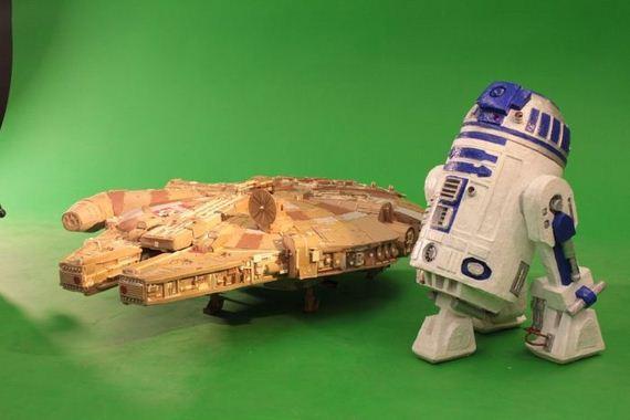 5ca055ba42 Artista cria uma incrível versão da Millennium Falcon de Star Wars ...