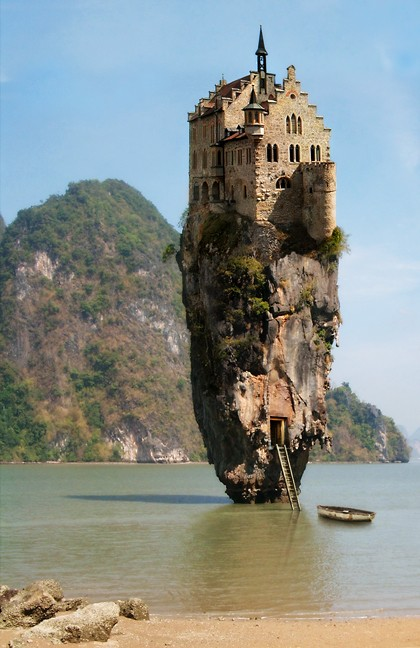 "Image of Castle House Island ""alleged"" in Dublin, Ireland"