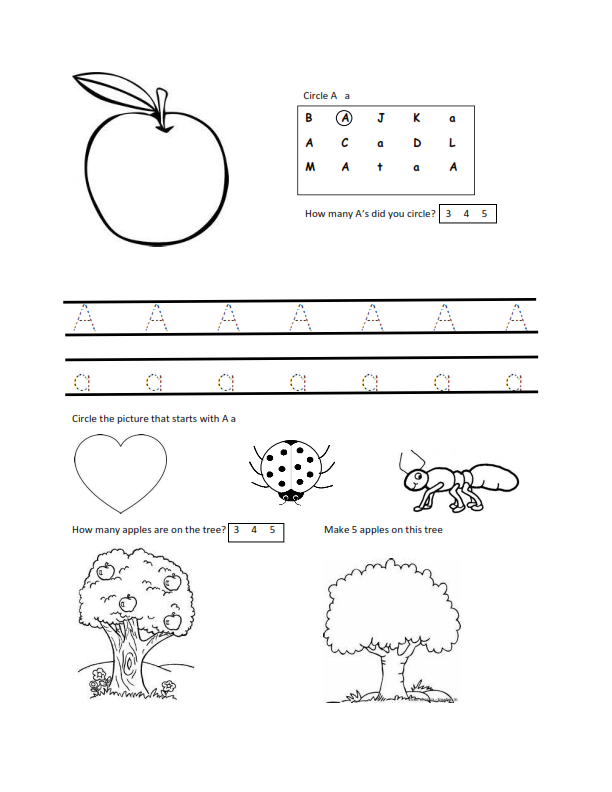 Mom First...Teacher Second: Free Letter A worksheet download