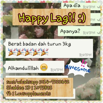 Testimoni Luvsupplements : Set Kurus Shaklee