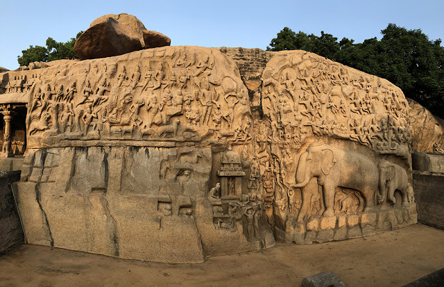 arjunas penance photo UNESCO Mahabalipuram Tamil Nadu
