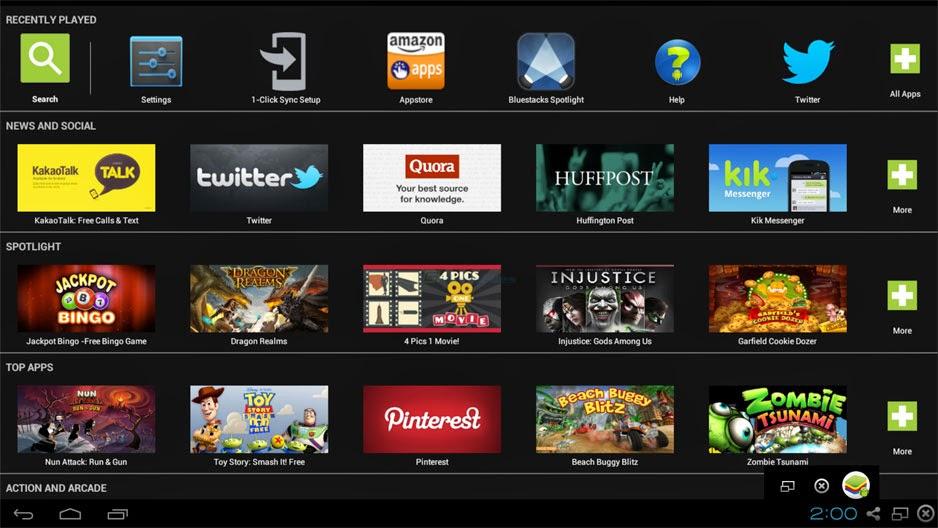 BlueStacks App Player Screenshot