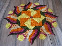 Easy Rangoli Designs For Diwali With Flowers