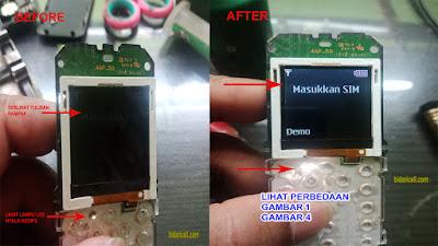 NOKIA 105 RM 908 LCD TIDAK NYALA