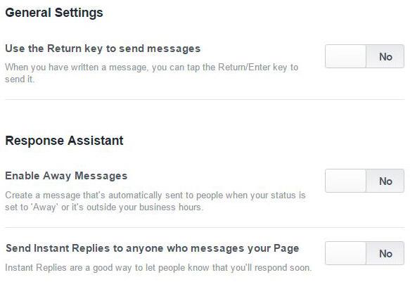 Asisten Response Facebook