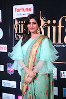 Samantha Ruth Prabhu Smiling Beauty in strange Designer Saree at IIFA Utsavam Awards 2017  Day 2  Exclusive 44.JPG