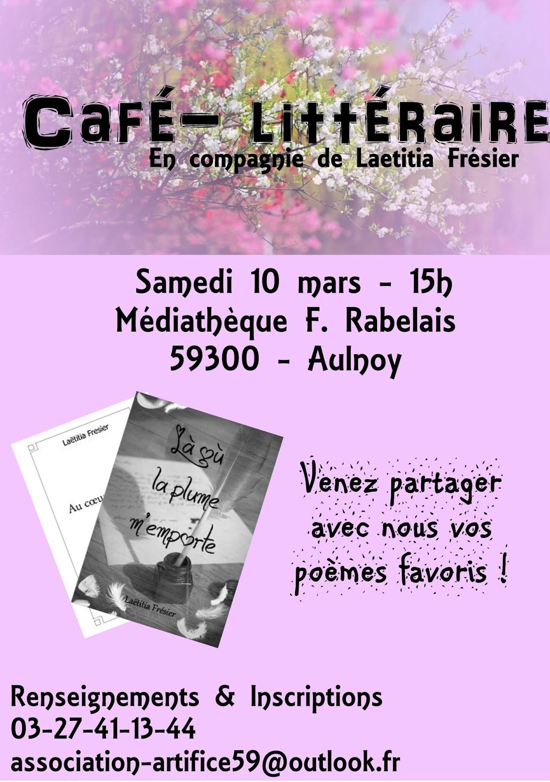 Cafe Litteraire Valenciennes  F Ef Bf Bdvrier