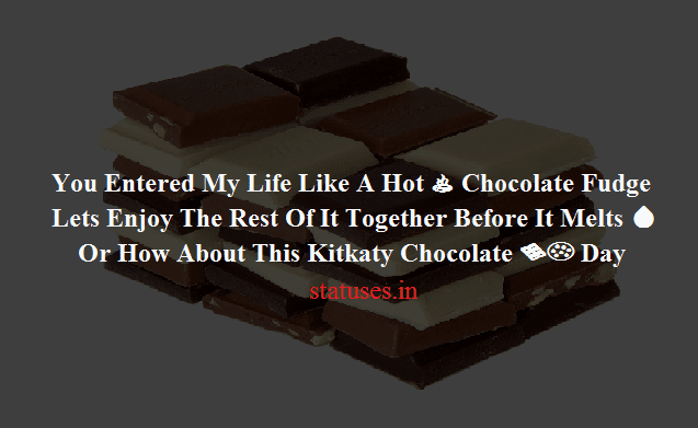 Chocolaty Status Messages & Wishes for Girls