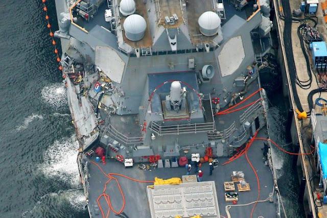 Vários marinheiros do destróier americano são encontrados mortos