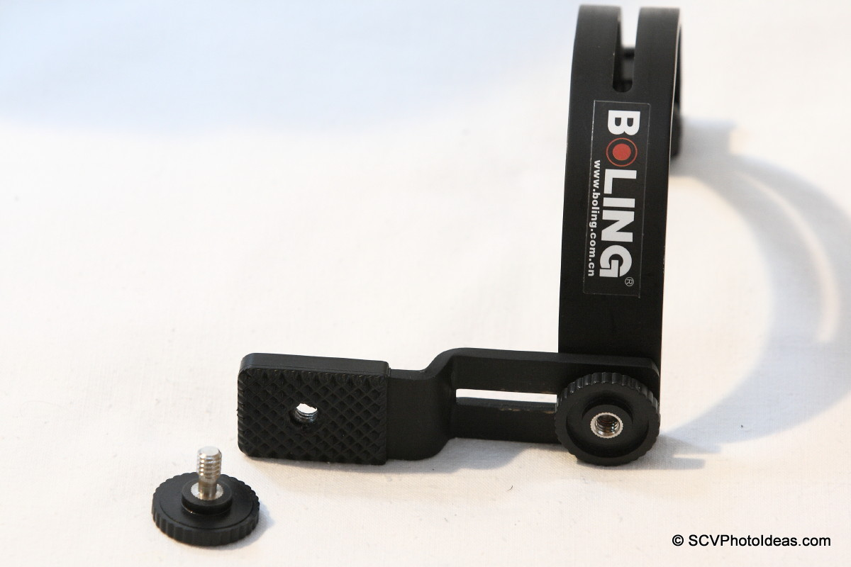 Boling C-Shape Flash Bracket S base screw removed