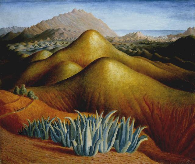 Spanish landscape with mountains, de Dora Carrington