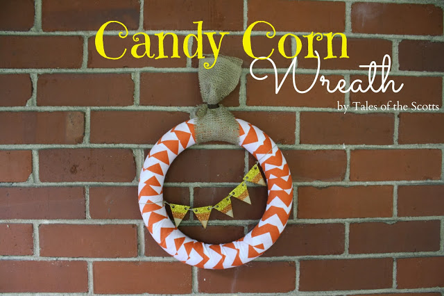 Candy Corn Inspired Wreath | #diy #halloween #wreath