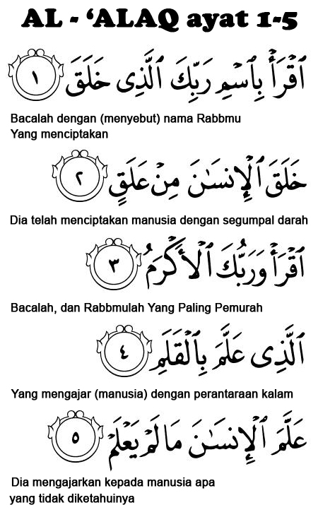 Surah Al Alaq 1-5 : surah, Putera, Islam:, BIODATA, AL-QURAN...