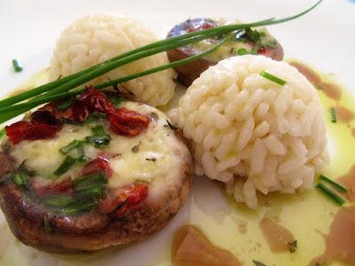 Šampinjoni s gorgonzolom / Champignons with gorgonzola