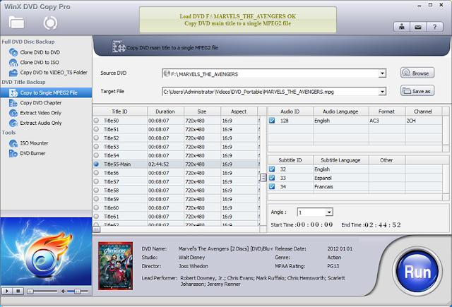 برنامج WinX DVD Copy Pro ... تحكم في ملفات الـ ISO و الـ DVD بكل سهولة و مجانا !