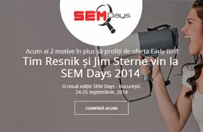 2 motive pentru a profita de oferta Early Bird la SEM Days