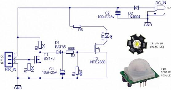 Passive Gps Tracker >> Motion Sensing Security Light using Passive Infrared ...