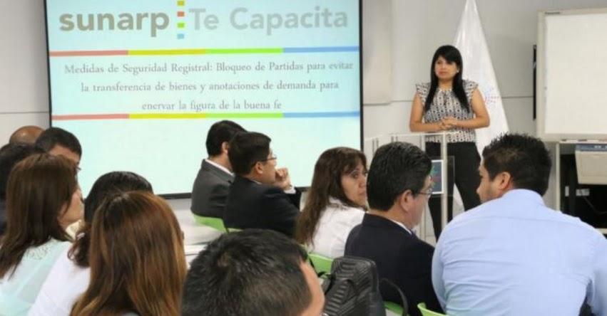 SUNARP brindará más de 70 capacitaciones a ciudadanos en junio a escala nacional - www.sunarp.gob.pe