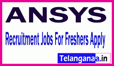 ANSYS Recruitment Jobs For Freshers Apply