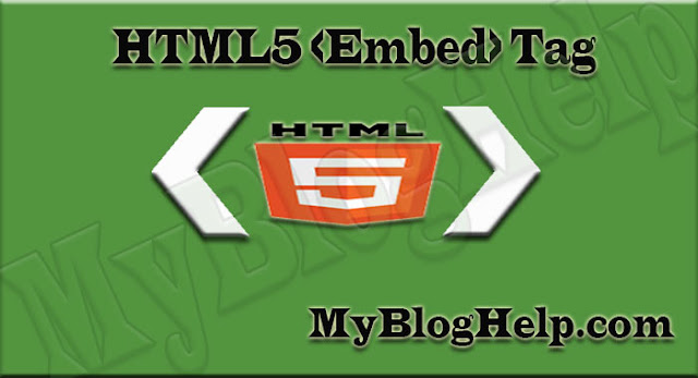 embed Tag in html5