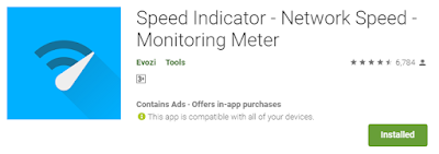 Speed Indicator - Network Speed - Monitoring Meter