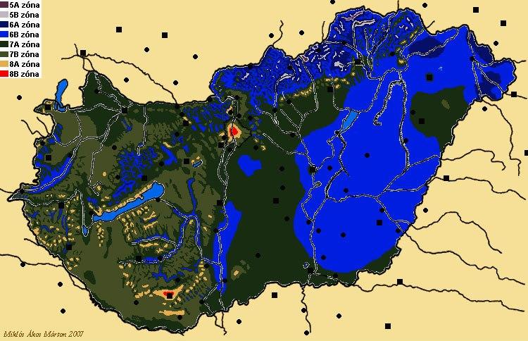 magyarország térkép lenti Pálmaliget blog: USDA zónák – Szükséges, de nem elégséges… magyarország térkép lenti