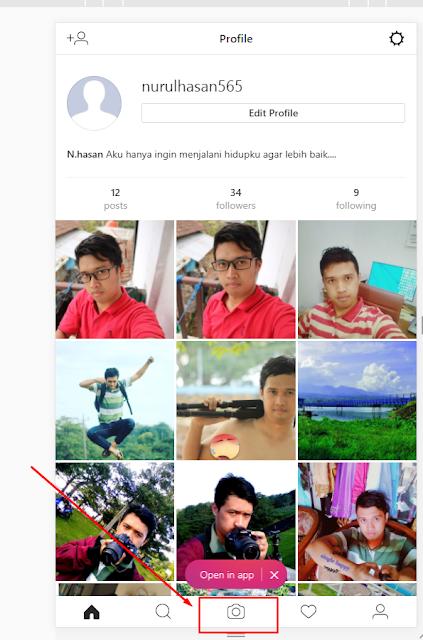 unggh foto instagram melalu komputer browser