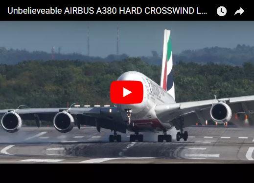 Buen Susto al aterrizar el avión más grande del mundo en una tormenta