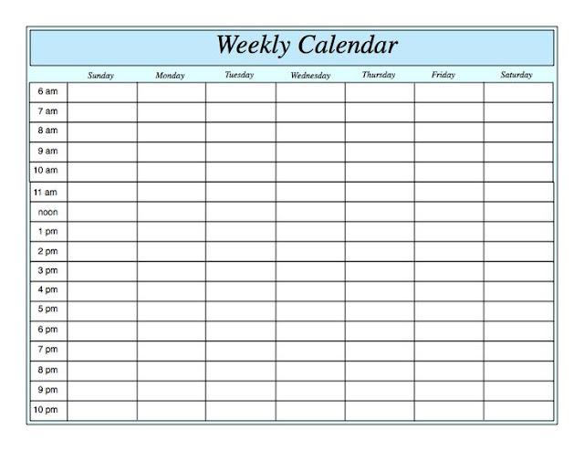 Weekly Calendar 2017 Templates Word PDF Excel - Get Printable - free weekly calendar
