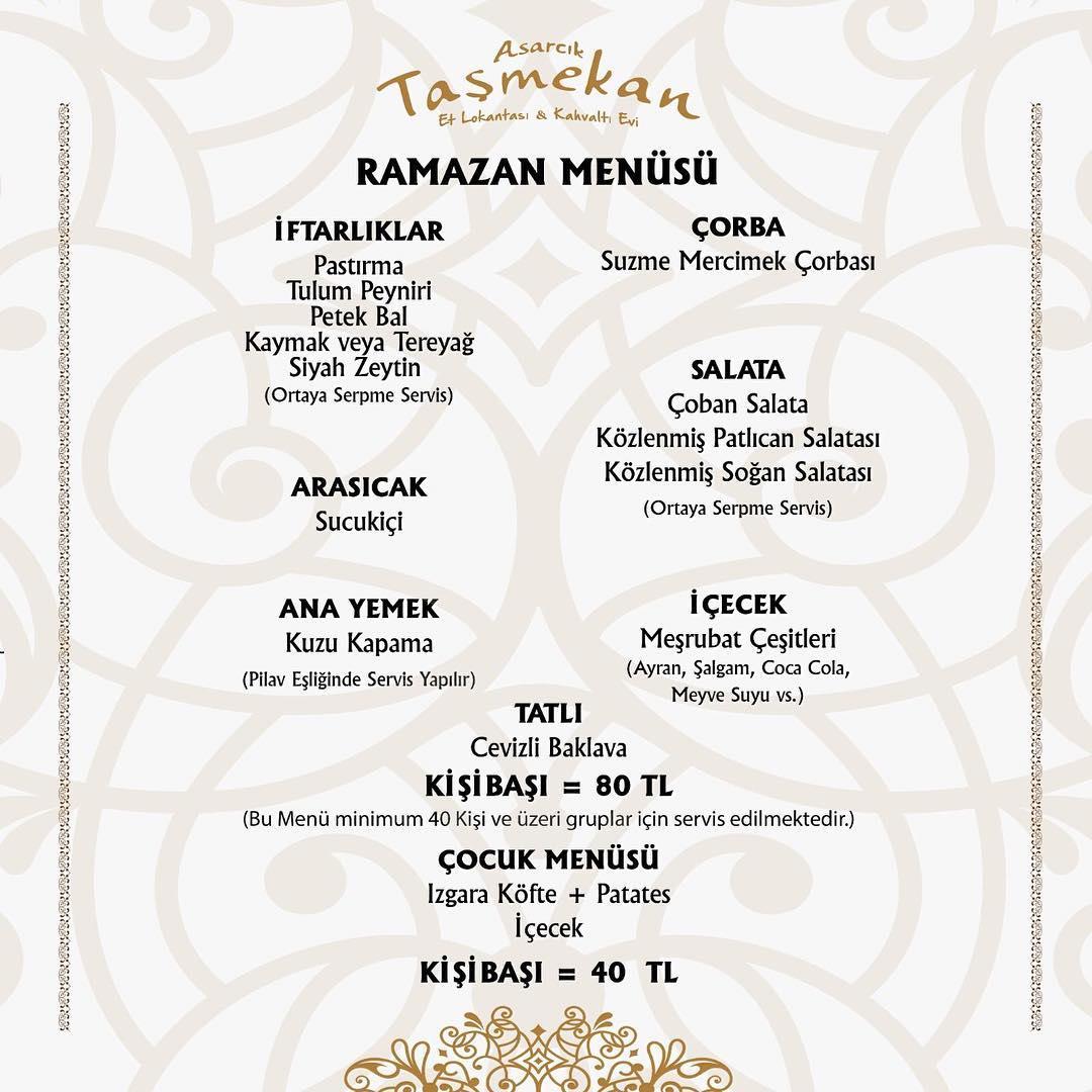 taş mekan et lokantası kayseri iftar menüleri ramazan 2019 kayseri iftar yerleri