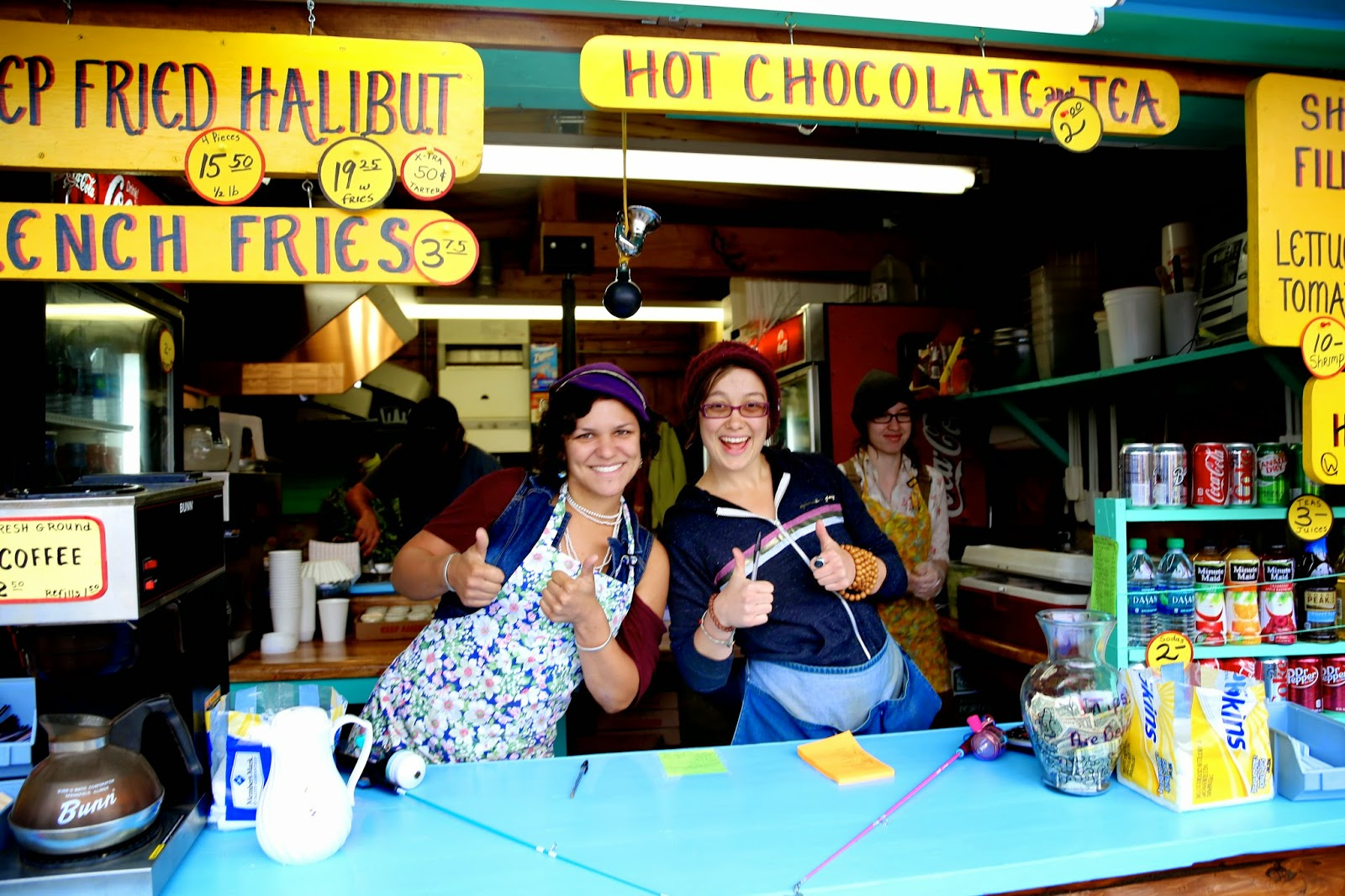 Fried halibut, halibut sandwich stall, Alaska State Fair